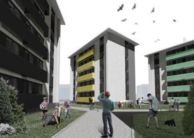 1º Accesit: Proyecto para la rehabilitación energética del barrio de Contrueces, Gijón